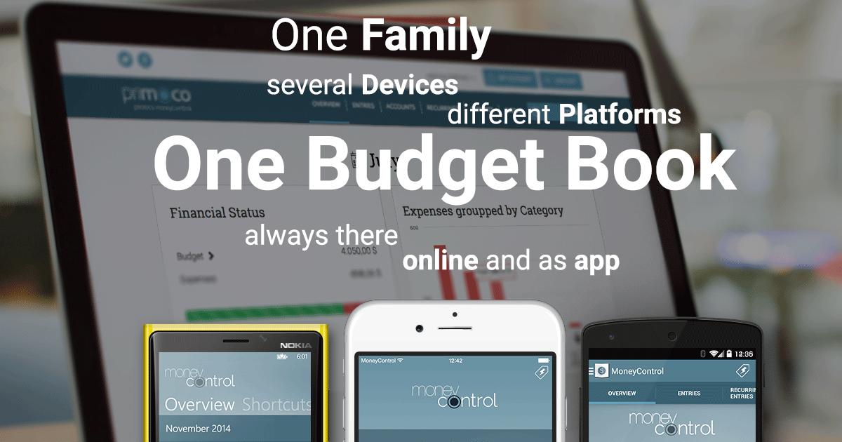 Primoco online budget book - Your finance app